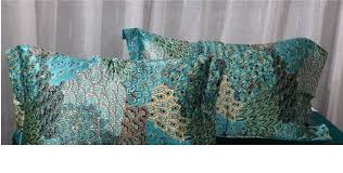 Peacock Feather Comforter Set Aliexpress Com Buy Blue Peacock Feather Print Silk Bedding Set