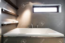 Modern Minimalist Bathroom Modern Minimalist Bathroom With A Large Square Bath Towel