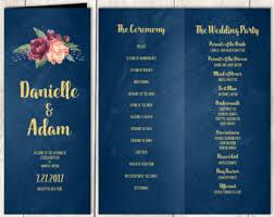 Chalkboard Wedding Program Programs Jadeforestdesign