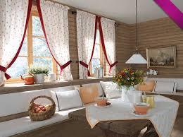 vorhänge für küche küche gardinen landhausstil netter entwurf roten