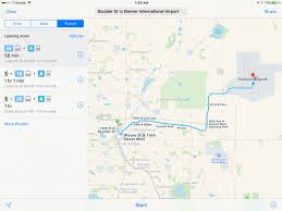 Denver Colorado Airport Map by Apple Maps Picks Up Public Transit Directions For Denver Colorado