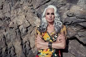 old hair at 59 years old grandma fashion model yasmina rossi stunning gray hair 8