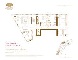 two bedroom floor plans the mandarin oriental las vegas the