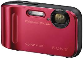 sony tf1 waterproof digital compact camera red amazon co uk