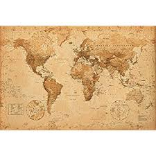antique map world world map antique vintage poster 55x39