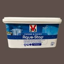 v33 cuisine et bain peinture v33 cuisine et bains aqua stop noix de muscade 2 5l satin