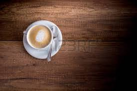 ent de cuisine haut top view of a delicious cup of freshly brewed aromatic cappuccino