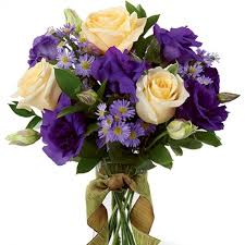 Lisianthus Elegance Bouquet A Sweet And Sophistication Rose And Lisianthus