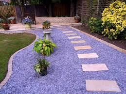 Backyard Gravel Ideas - bedroom inspiring stones edging and gravel landscaping ideas