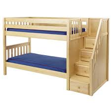 maxtrixkids stacker ns low bunk bed with staircase on end