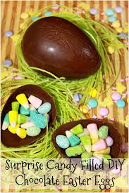 candy filled easter eggs for the of food candy filled diy chocolate easter eggs