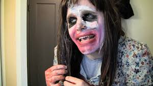 Crazy Makeup Halloween by Crazy Lady In Halloween Makeup Youtube