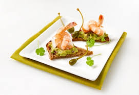 dining canapes recipes recipe shrimp and avocado canapés saq com