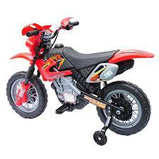 electric motocross bike for kids aosom aosom 6v kids ride on electric motocross dirt bike red