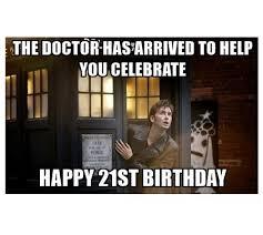 Doctor Who Birthday Meme - happy 21st birthday memes wishesgreeting