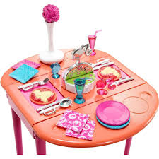 barbie dining table set playsets homeshop18
