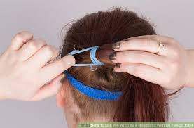 how to use pre wrap as a headband without tying a knot 6 steps