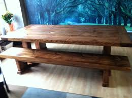 wooden table and bench dining room table with bench chuck nicklin