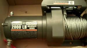 badland winch 2000lbs harbor freight cheap youtube
