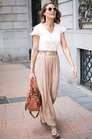 lange rok zara maxi skirt lace top gold belt sandals maxi