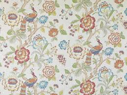 Upholstery Fabric With Birds Blue Orange Upholstery And Curtain Fabric With Birds Modern