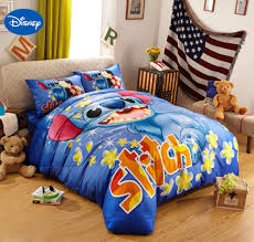 lilo and stitch bedroom home designs blue disney cartoon lilo and stitch bedding sets for boys bedroom decor cotton bedclothes comforters single