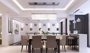 minimalist dining room chandelier and ceiling interior design