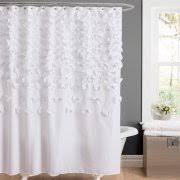 Gray Ruffle Shower Curtain Ruffle Shower Curtains
