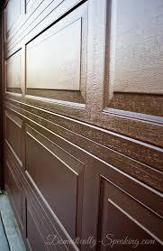 Painting Aluminum Garage Doors by Diy Gel Stain Garage Door Update Domestically Speaking