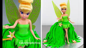 doll cake tinkerbell fairy princess doll cake how to make by cakes