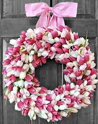 tulip wreath summer wreaths for front door tulip wreath