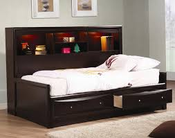 Bookcase Daybed With Drawers And Trundle Bunk Beds With Storage Uk Home Design Ideas