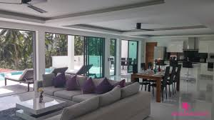 sea view living room chaweng noi sea view villa for sale samui island realty