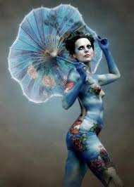 Girls Woman Full Body Painting