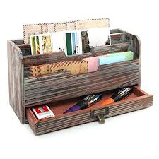 desk organizer tray 3 tier country rustic torched wood office desk