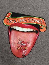 rolling stones tattoo you cut out tongue poster rare ebay