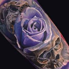 Pretty Flowers For Tattoos - best 25 purple rose tattoos ideas on pinterest colorful rose