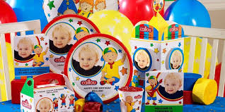 caillou party supplies caillou personalized party supplies kids party supplies