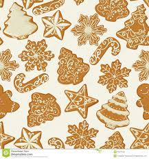 seamless pattern with gingerbread cookies in vintage
