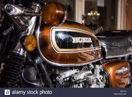 vintage honda honda classic motorcycle 500 four vintage stock photo royalty