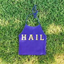 this royal blue hail bodysuit is perfect for game day wolverine