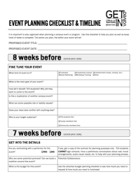 fillable online tc3foundation event planning guide timeline
