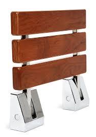 Teak Shower Seat Amazon Com Kenley Folding Shower Seat Wooden Wall Mounted Bench