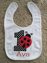 1st birthday bib personalized ladybug birthday bib 1st birthday girl by babymodern