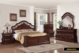 Rayville Upholstered Bedroom Set Meridian Alexandria King Panel Bed In Dark Wood
