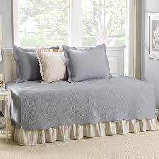 bedroom beige daybed cover with beige throw pillows and beige