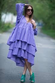 purple flounces dress loose maxi dress plus size dress for