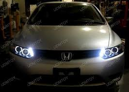 honda civic headlight 06 11 honda civic chrome dual halo rings projector led headlights