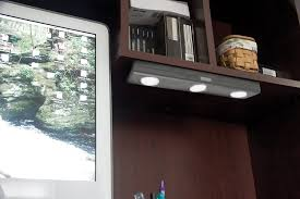 puck under cabinet lighting rite lite lpl700rc led under cabinet light with remote grey