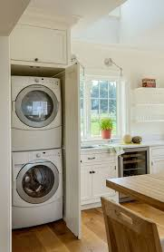 laundry room in kitchen ideas built in washer dryer hide away your laundry machine where no